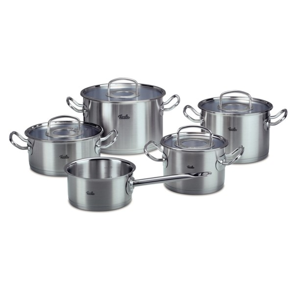 Set de oale din inox Fissler, 9 piese, seria Original Profi Collection, inductie, capac thumbnail