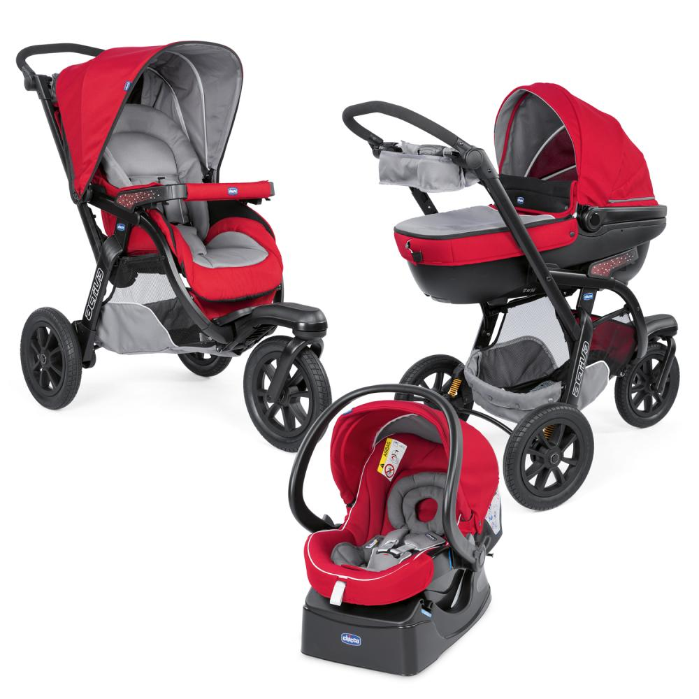 Carucior Chicco Trio Activ3 Car Kit 0+luni Red Berry thumbnail