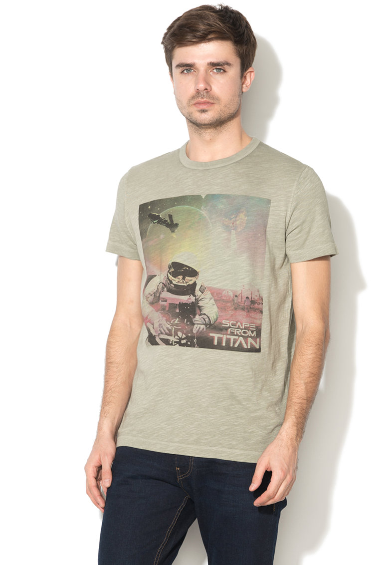 Tricou regular fit cu imprimeu foto thumbnail