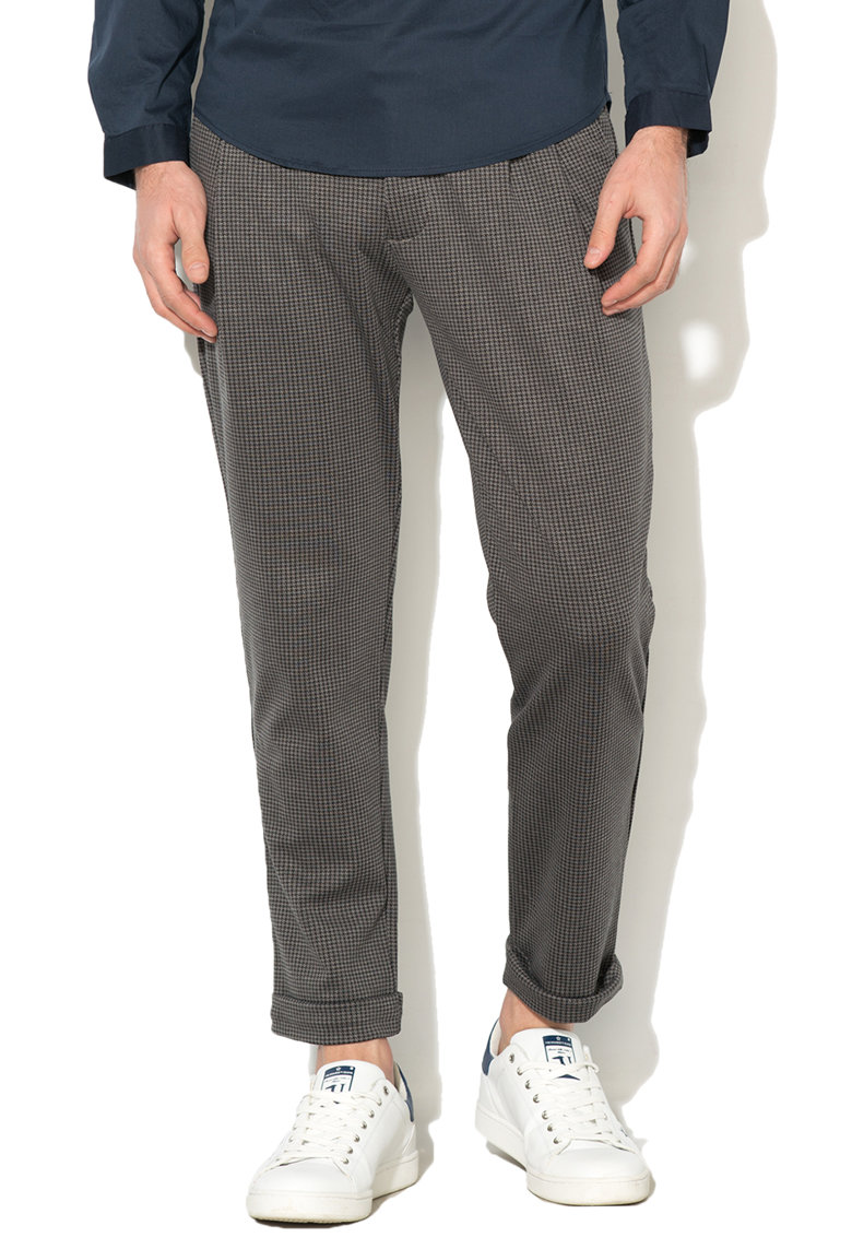Pantaloni chino cu model houndstooth thumbnail