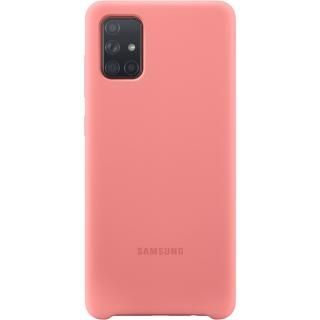 """<font color=""""FF00CC"""">Promotie!</font> Husa Capac Spate Silicon Roz SAMSUNG Galaxy A71 thumbnail"""