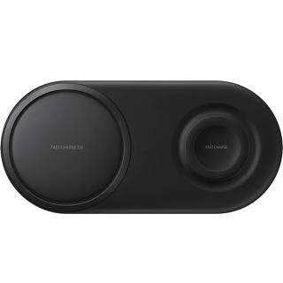 """<font color=""""FF00CC"""">Promotie!</font> Incarcator Wireless Duo Pad Fast Charge Negru thumbnail"""