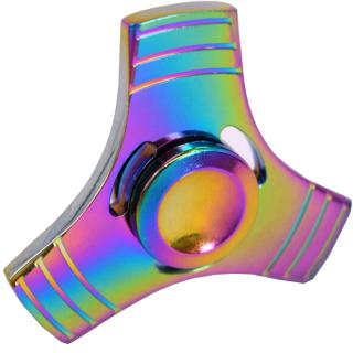 Jucarie Antistres Metalica Fidget Spinner Multicolor thumbnail