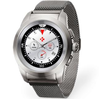 "<font color=""FF00CC"">Promotie!</font> Smartwatch ZeTime Elite 39MM Brushed Argintiu Milanese thumbnail"