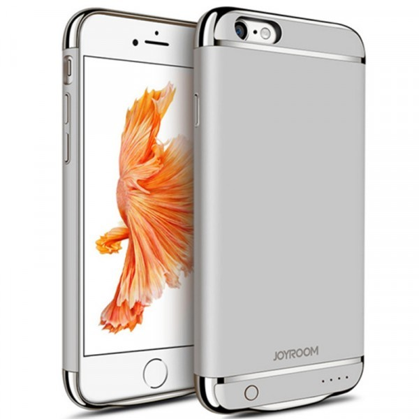 Husa Baterie Ultraslim iPhone 6 Plus/6s Plus, iUni Joyroom 3500mAh, Silver thumbnail