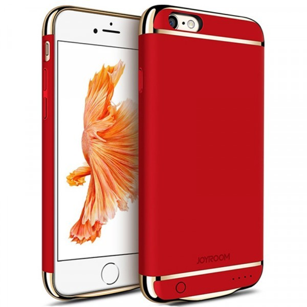 Husa Baterie Ultraslim iPhone 6/6s, iUni Joyroom 2500mAh, Red thumbnail
