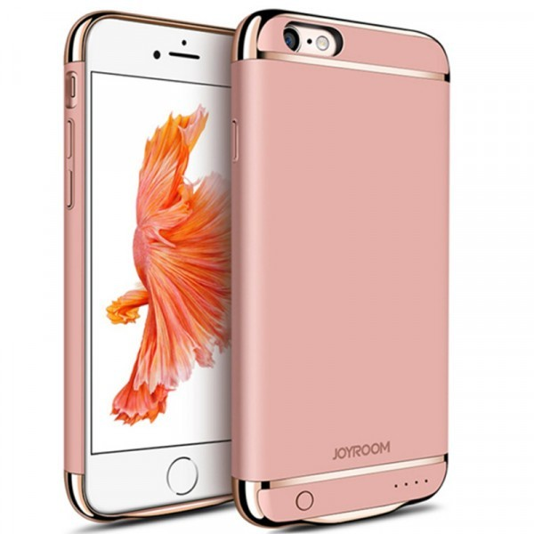 Husa Baterie Ultraslim iPhone 6/6s, iUni Joyroom 2500mAh, Rose Gold thumbnail