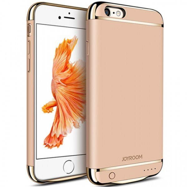 Husa Baterie Ultraslim iPhone 6 Plus/6s Plus, iUni Joyroom 3500mAh, Gold thumbnail