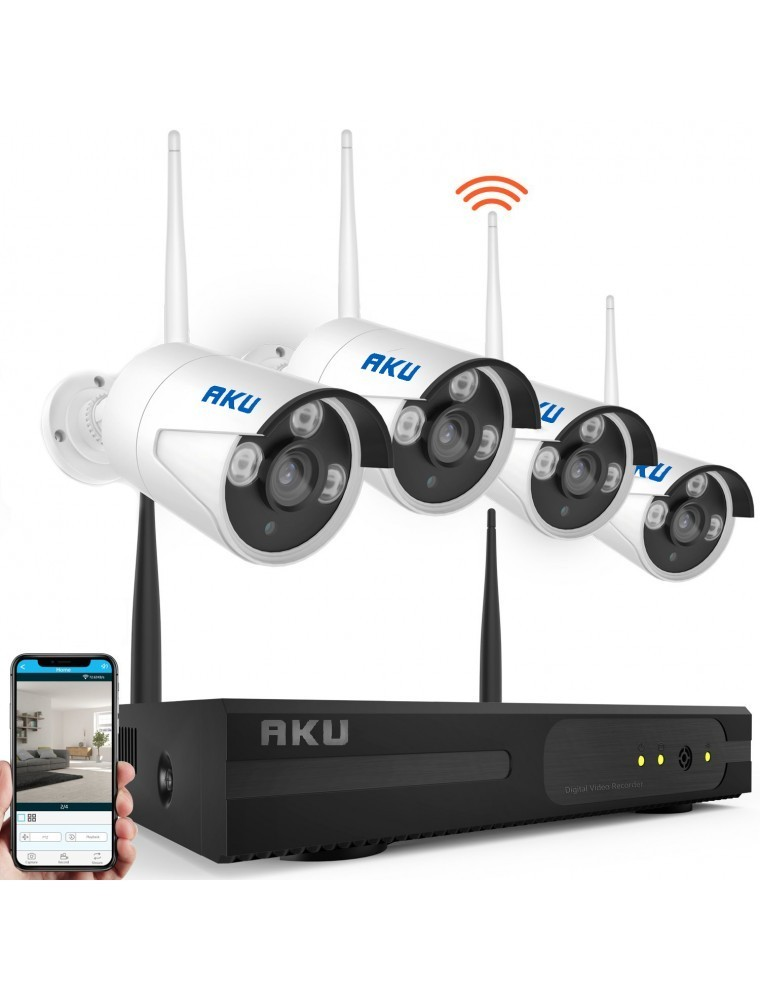 Kit supraveghere wireless 4 camere IP rezolutie CLEAR HD 1 MP infrarosu 25m thumbnail