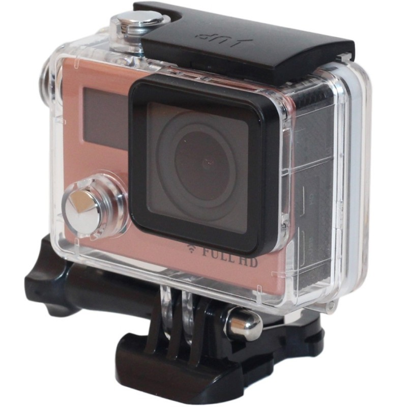 Camera Sport iUni Dare F88, Full HD 1080P, 12M, Waterproof, Rose Gold thumbnail