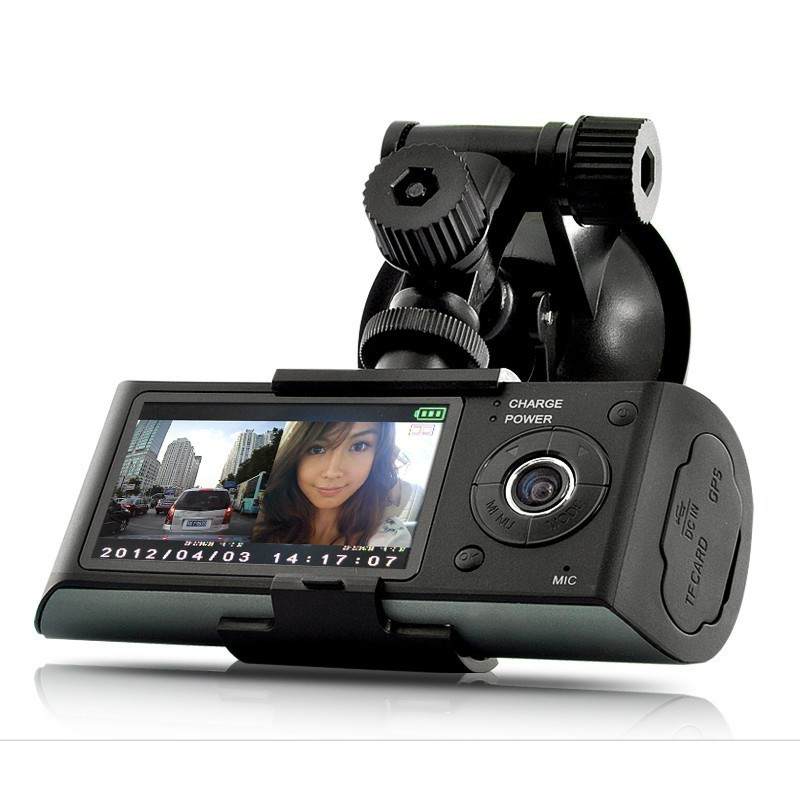 Resigilat! Camera Auto Dubla Cu GPS iUni Dash X3000 Plus, display 2.7 inch thumbnail