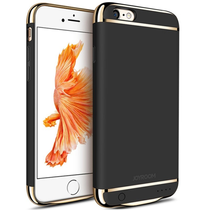 Husa Baterie Ultraslim iPhone 6 Plus/6s Plus, iUni Joyroom 3500mAh, Black thumbnail