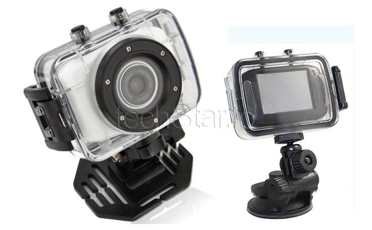 Camera Sport si Auto Camcorder HD cu Touchscreen & Waterproof thumbnail