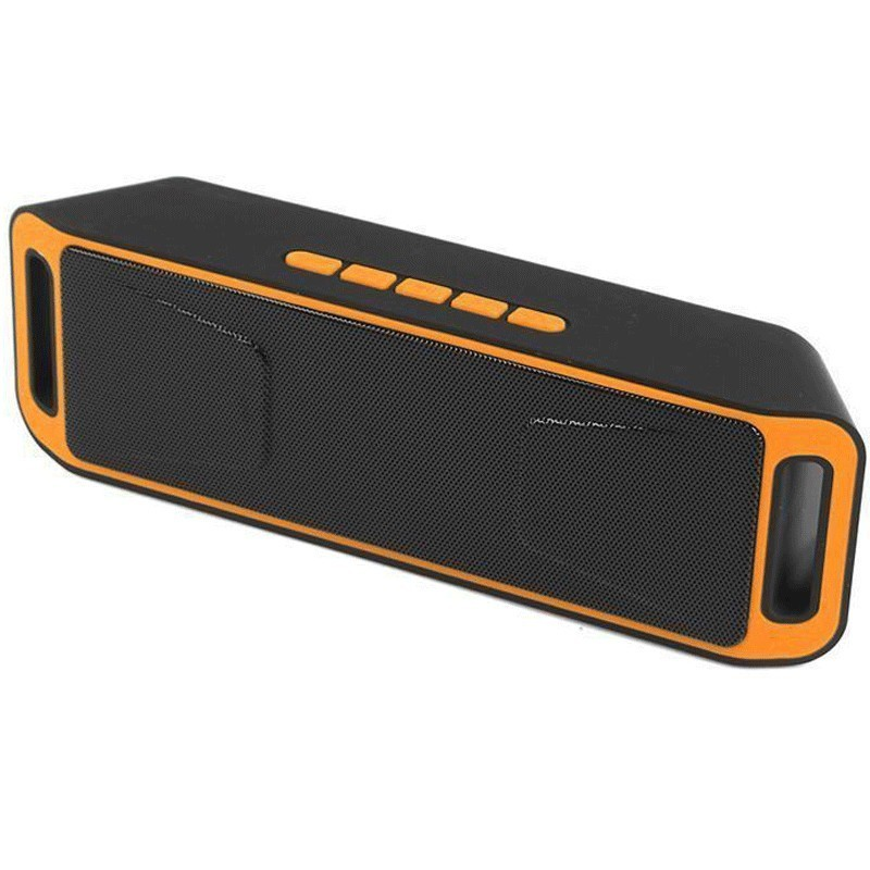 Boxa Portabila Bluetooth iUni DF02, USB, TF CARD, AUX-IN, Fm radio, Portocaliu thumbnail