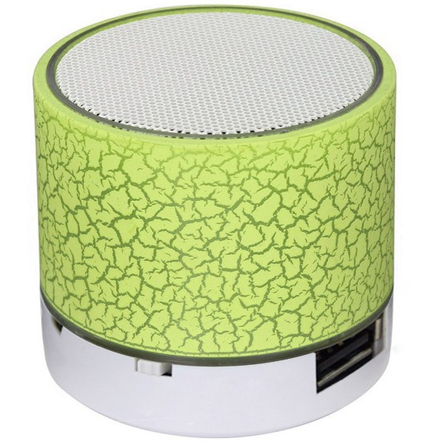 Boxa Portabila Bluetooth iUni DF08, Small Size, 520 mAH, 3W, USB, Slot Card, AUX-IN, Radio, Aluminiu, Verde thumbnail